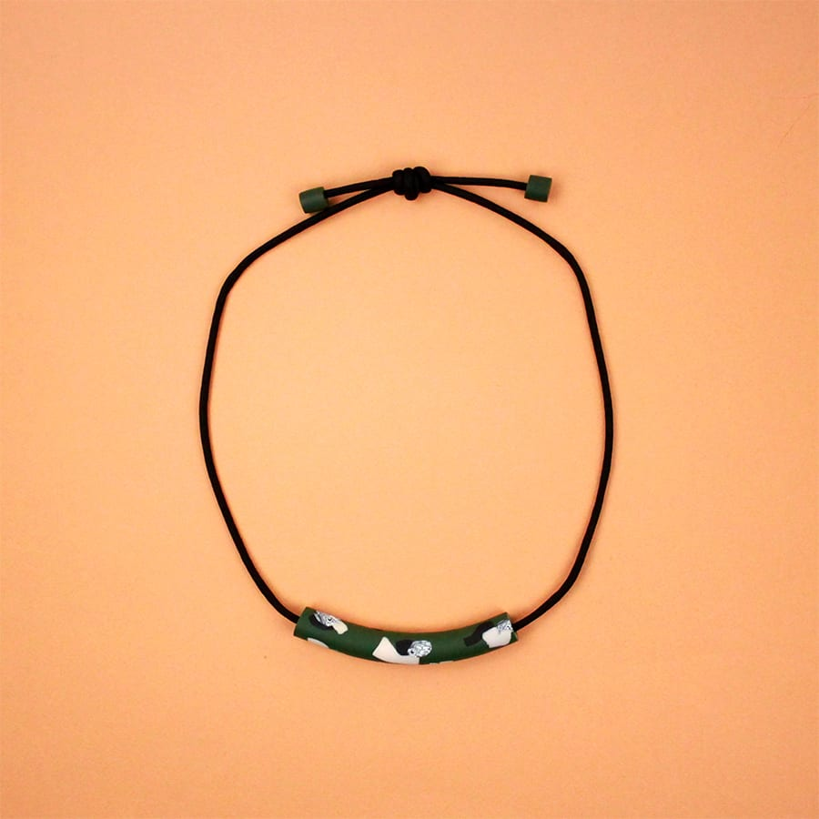 NECKLACE PENNE PAL GREEN