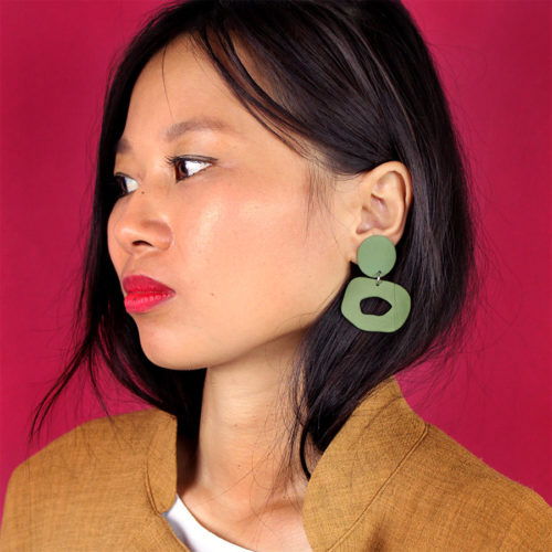 EARRINGS-CUTOUT-DANGLE-GREEN-FOUR-EYES-CERAMICS-COOL-MACHINE-2