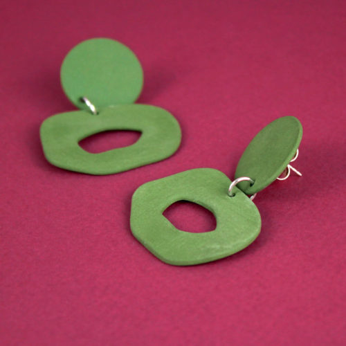 EARRINGS-CUTOUT-DANGLE-GREEN-FOUR-EYES-CERAMICS-COOL-MACHINE-3
