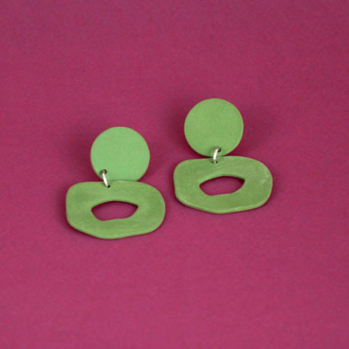 EARRINGS-CUTOUT-DANGLE-GREEN-FOUR-EYES-CERAMICS-COOL-MACHINE-4