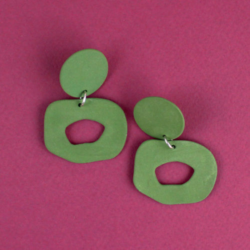 EARRINGS-CUTOUT-DANGLE-GREEN-FOUR-EYES-CERAMICS-COOL-MACHINE-5