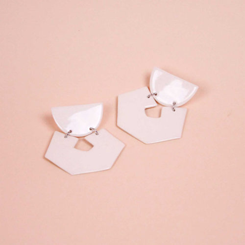 EARRINGS-HEX-MINERAL-WHITE-GLAZED-PORCELAIN-FOUR-EYES-CERAMICS-COOL-MACHINE-2