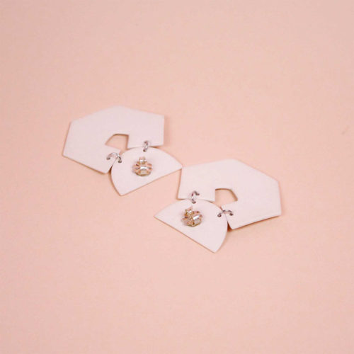 EARRINGS-HEX-MINERAL-WHITE-GLAZED-PORCELAIN-FOUR-EYES-CERAMICS-COOL-MACHINE-3