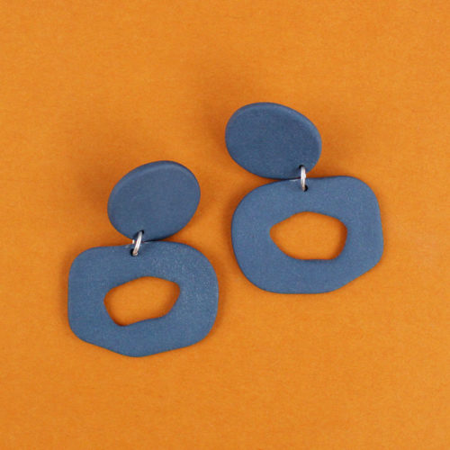 EARRINGS-SMALL-CUTOUT-DANGLE-BLUE-FOUR-EYES-CERAMICS-COOL-MACHINE-1
