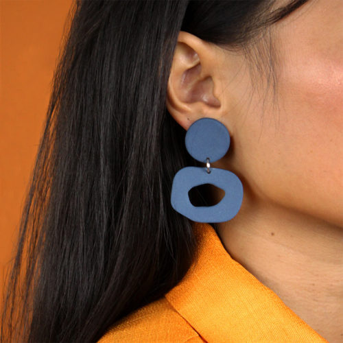 EARRINGS-SMALL-CUTOUT-DANGLE-BLUE-FOUR-EYES-CERAMICS-COOL-MACHINE-3