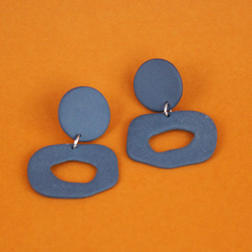 EARRINGS-SMALL-CUTOUT-DANGLE-BLUE-FOUR-EYES-CERAMICS-COOL-MACHINE-4