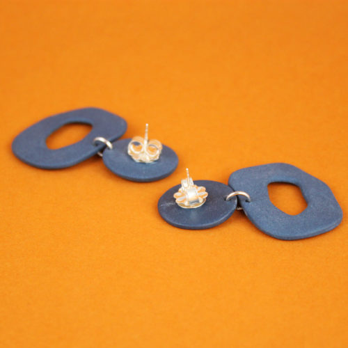 EARRINGS-SMALL-CUTOUT-DANGLE-BLUE-FOUR-EYES-CERAMICS-COOL-MACHINE-5