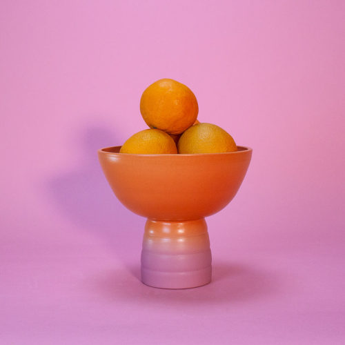GRADIENT-FRUIT-BOWL-MARILYNE-BLAIS-ORANGE-DUSTY-PINK-MATTE-HANDMADE-COOL-MACHINE-1