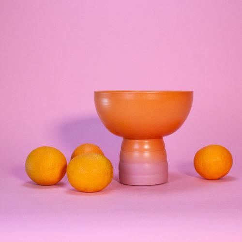 GRADIENT-FRUIT-BOWL-MARILYNE-BLAIS-ORANGE-DUSTY-PINK-MATTE-HANDMADE-COOL-MACHINE-4