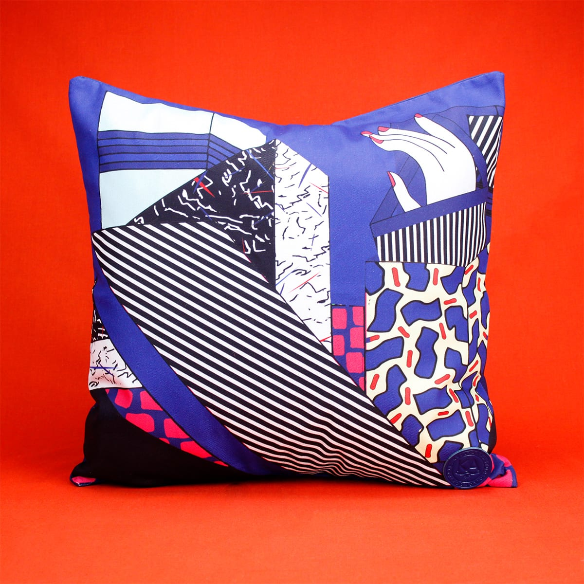 CUSHION COVER HANDS UP Kelly Anna London artwork Cool Machine store