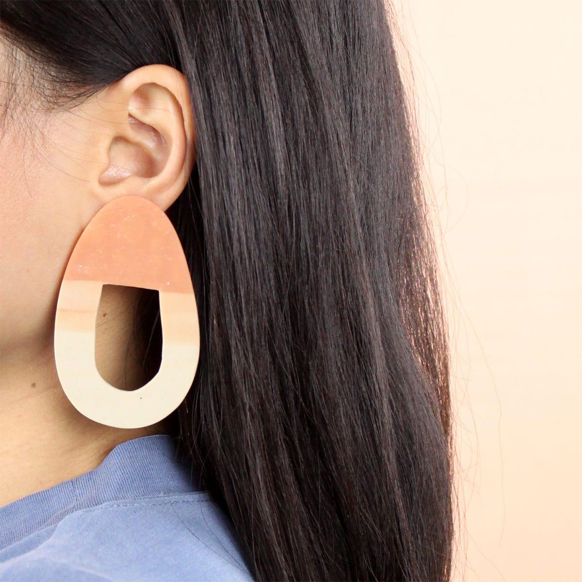 EARRINGS ORGANIC GRADIENT SHAPE