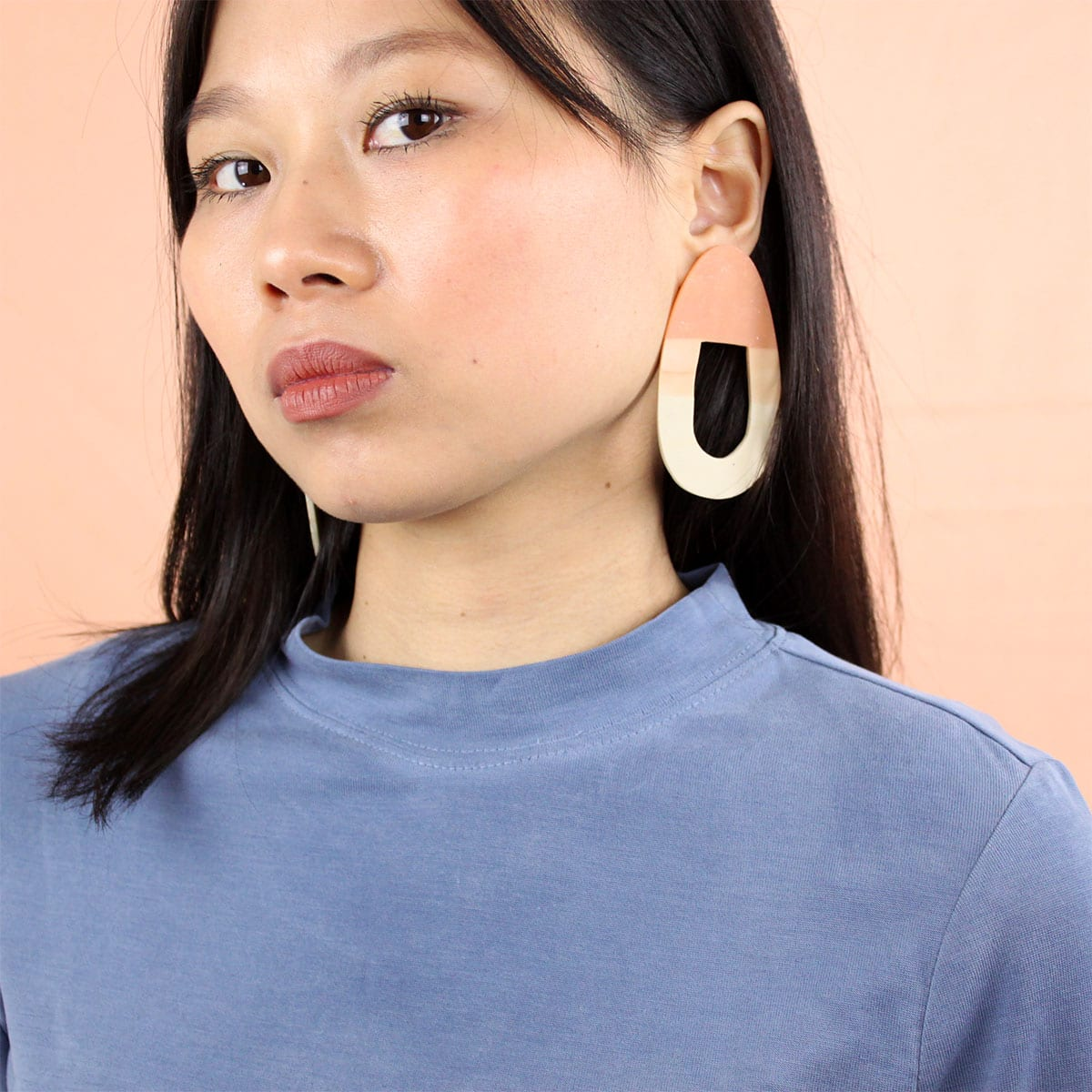 EARRINGS ORGANIC GRADIENT SHAPE Hello Zephyr Cool Machine