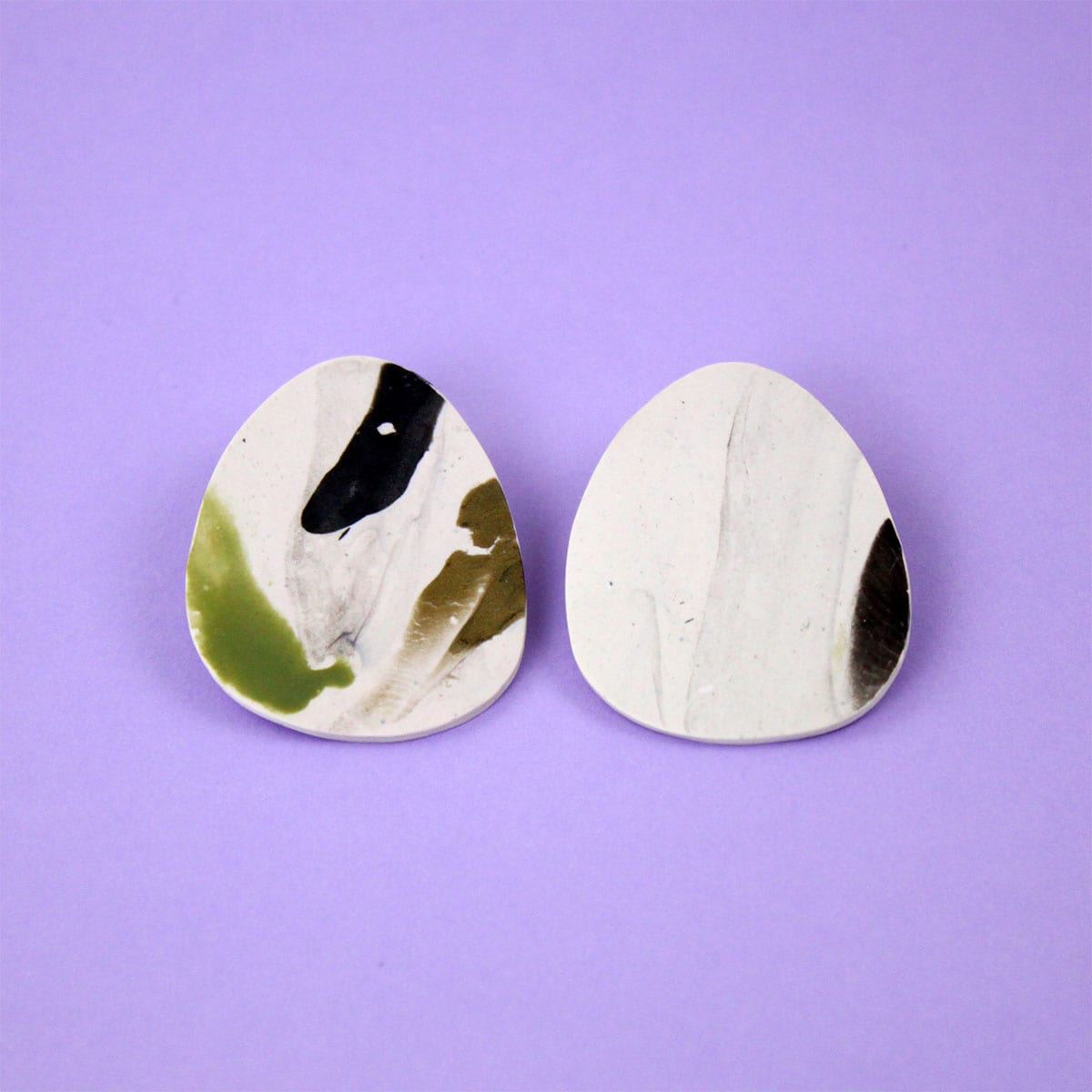 EARRINGS ORGANIC MARBLED SHAPE