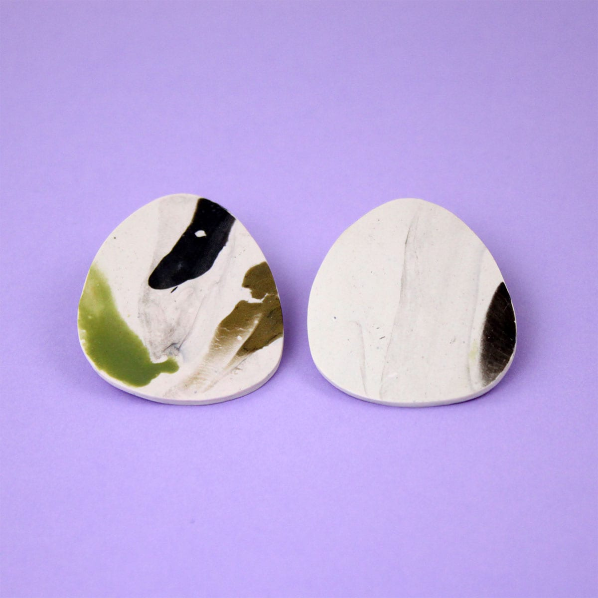 EARRINGS ORGANIC MARBLED SHAPE Hello Zephy Cool Machine