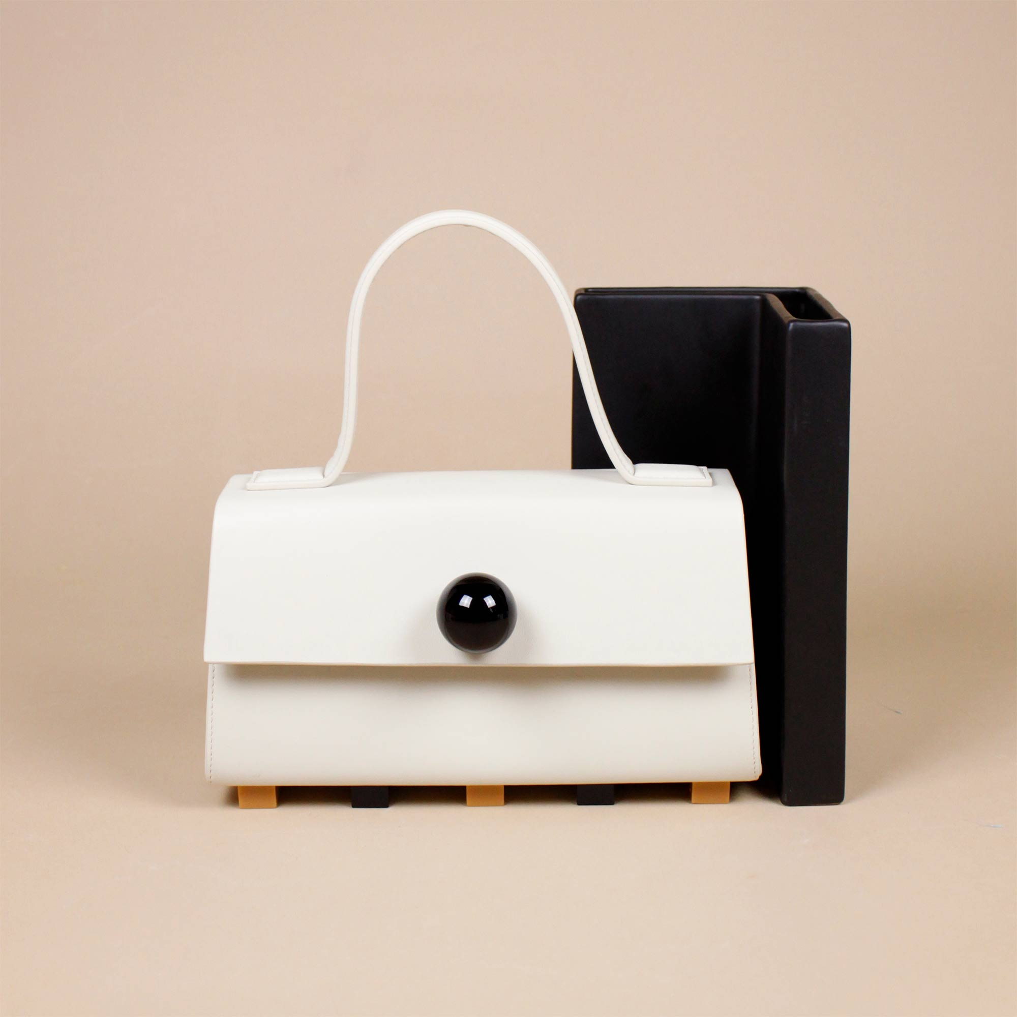 SATCHEL BAG MINERAL WHITE