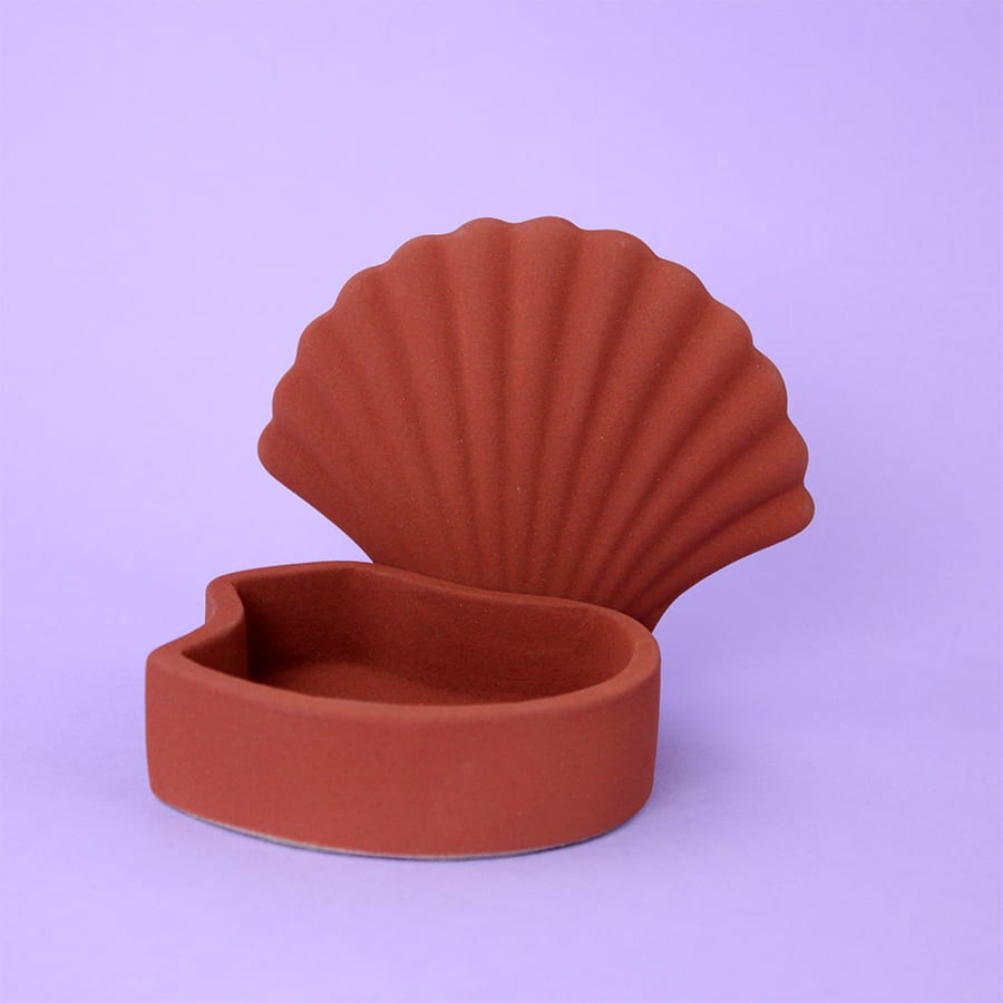 SHELL BOX TERRACOTTA Los Objetos Decorativos Cool Machine