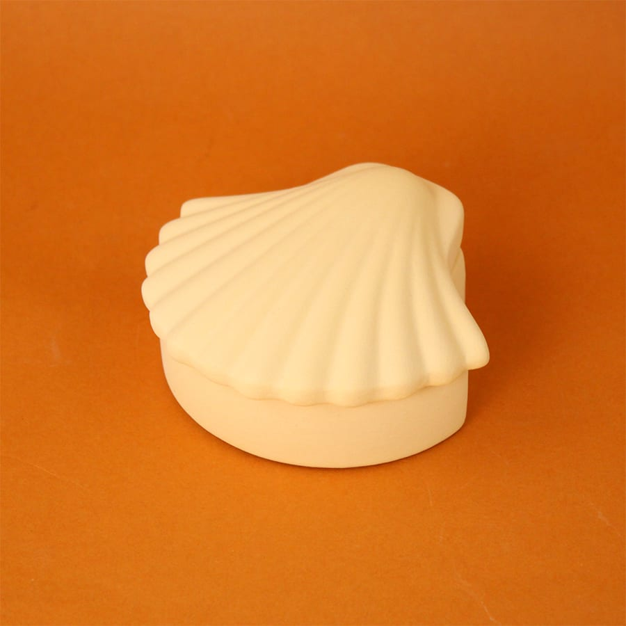 SHELL BOX BUTTER YELLOW Los Objetos decorativos Cool Machine