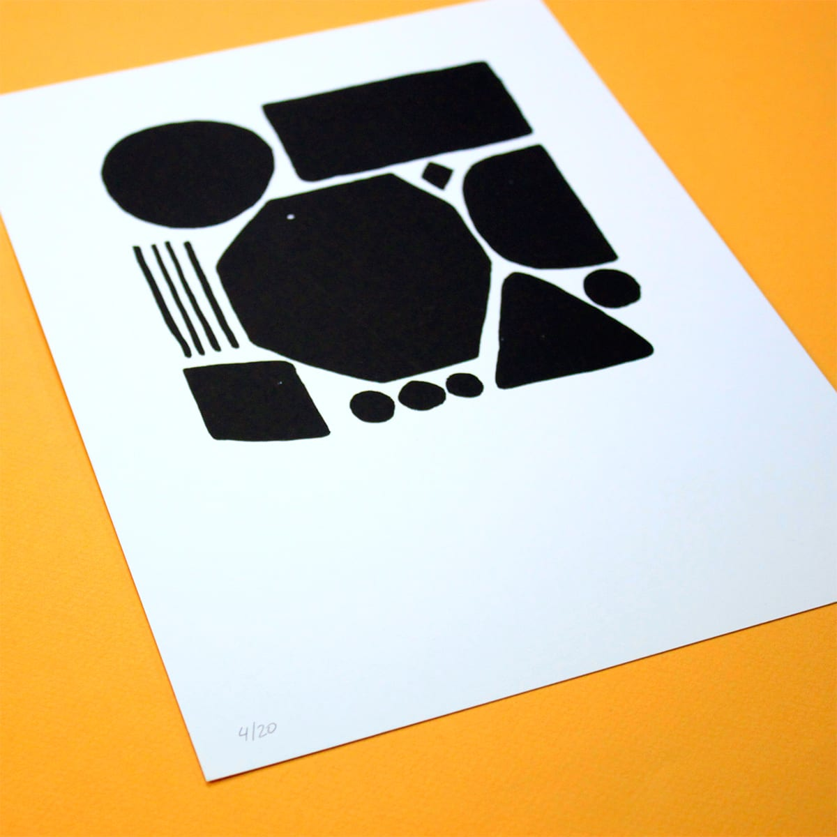 SCREENPRINT BLACK SHAPES