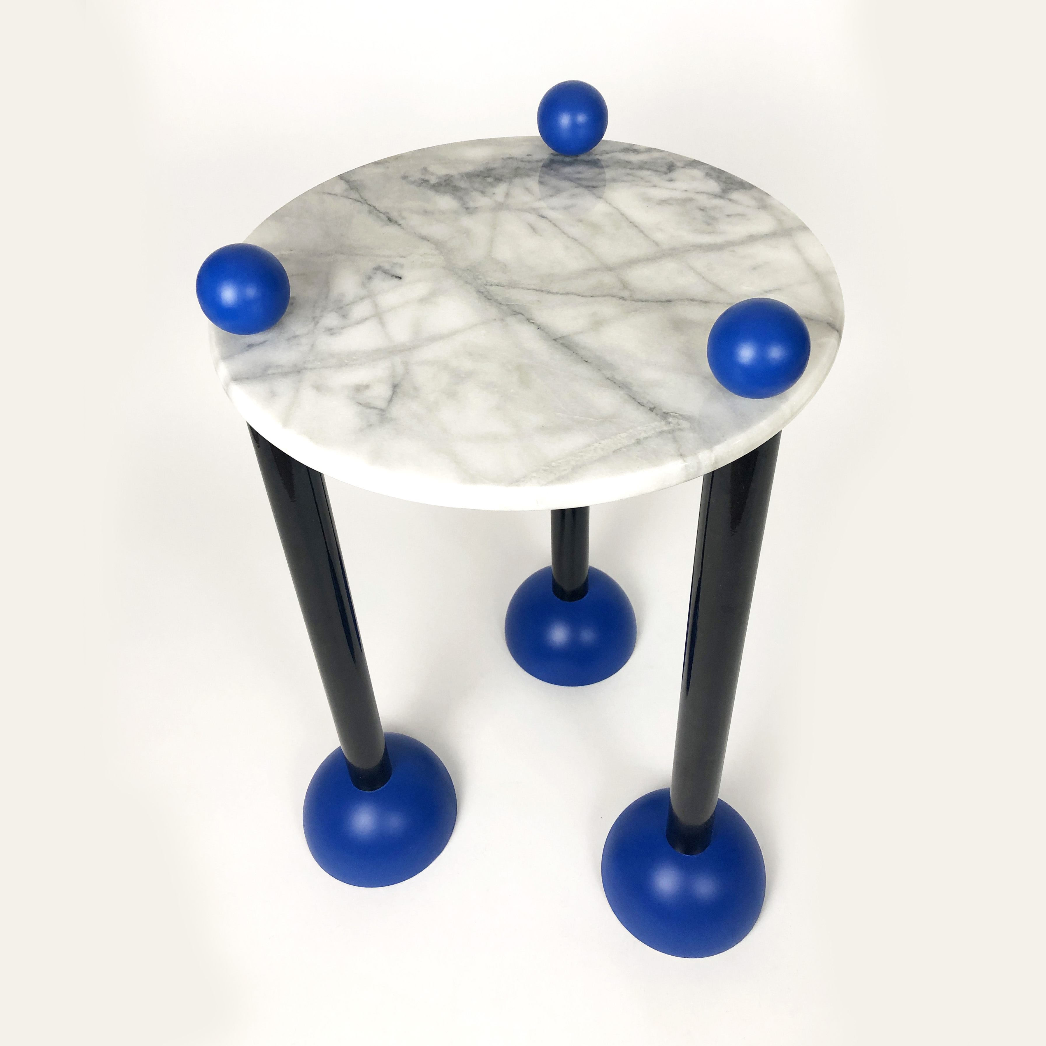 SIDE TABLE MARBLE AND WOOD