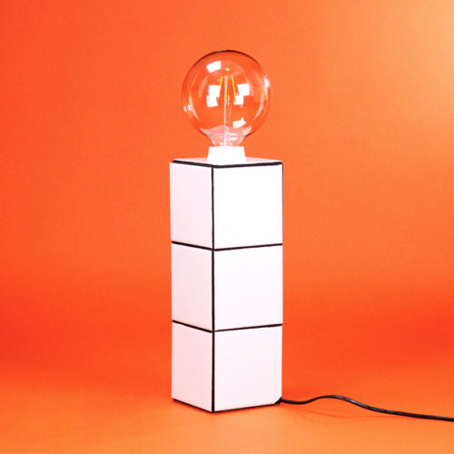 COOL MACHINE TILES COLLECTION TILED LAMP WHITE HANDMADE IN FRANCE
