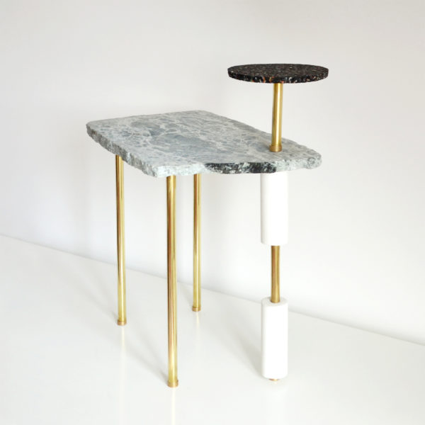 SIDE TABLE PIECE OF MARBLE