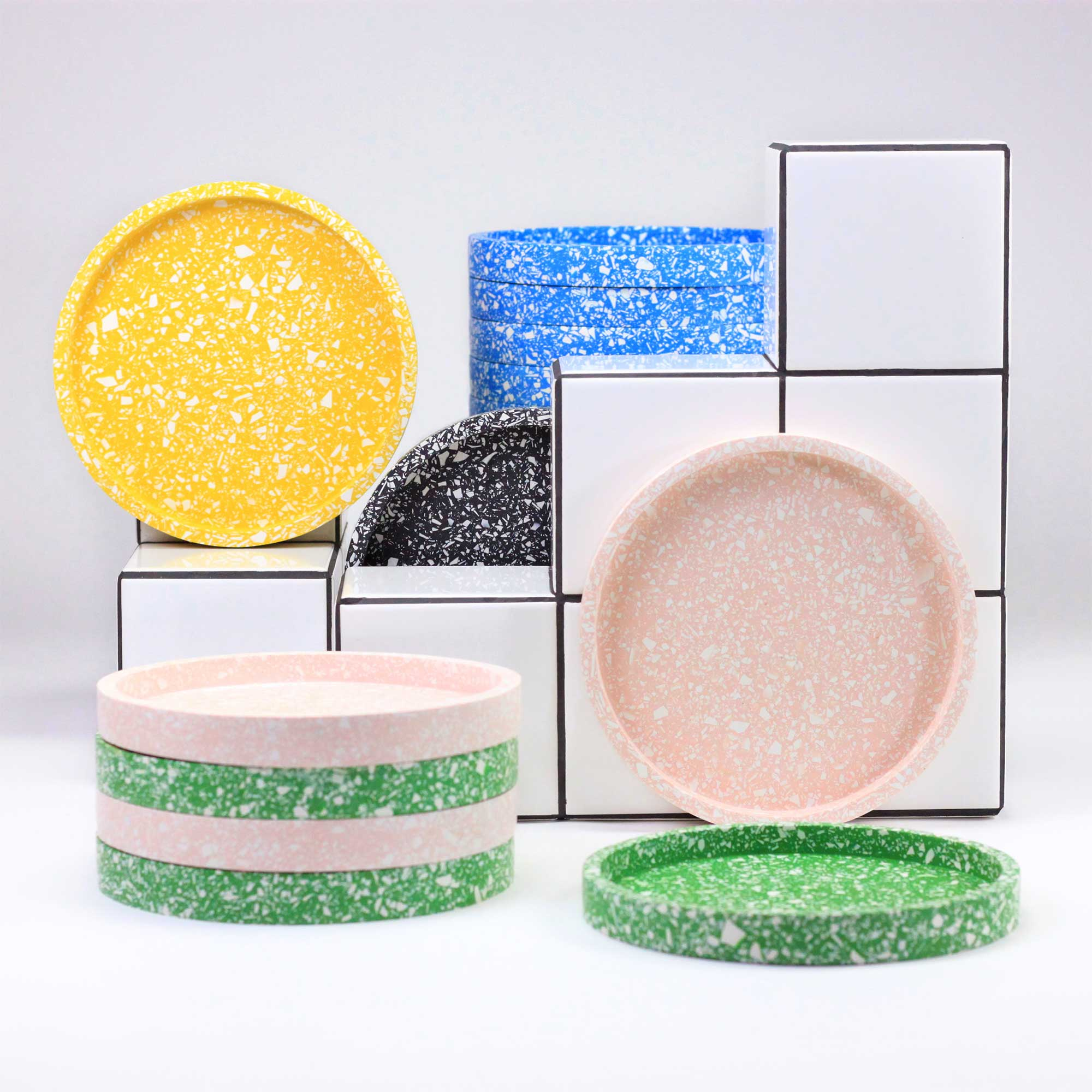 ROUND TRAY TERRAZZO LIKE KATIE GILLIES – 5 COLORS