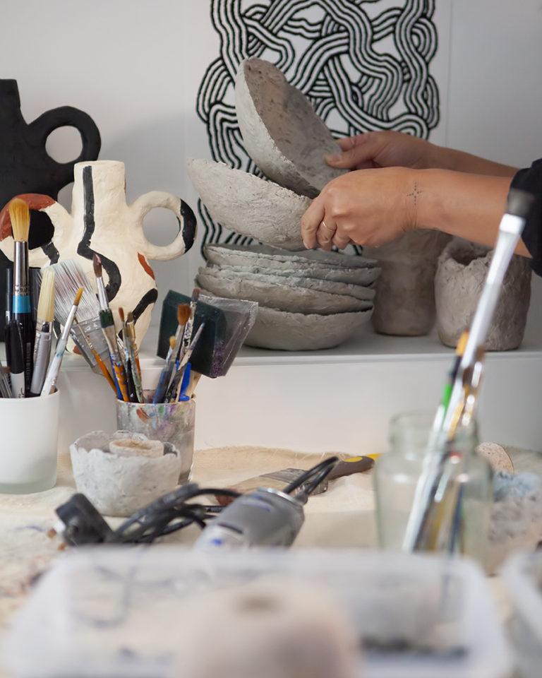 JACQUELINE DE LA FUENTE DE LA JARDIN STUDIO VISIT WORKSHOP LONDON INTERVIEW COOL MACHINE ART AND DESIGN STORE ART GALLERY CREATIVE STUDIO (11)