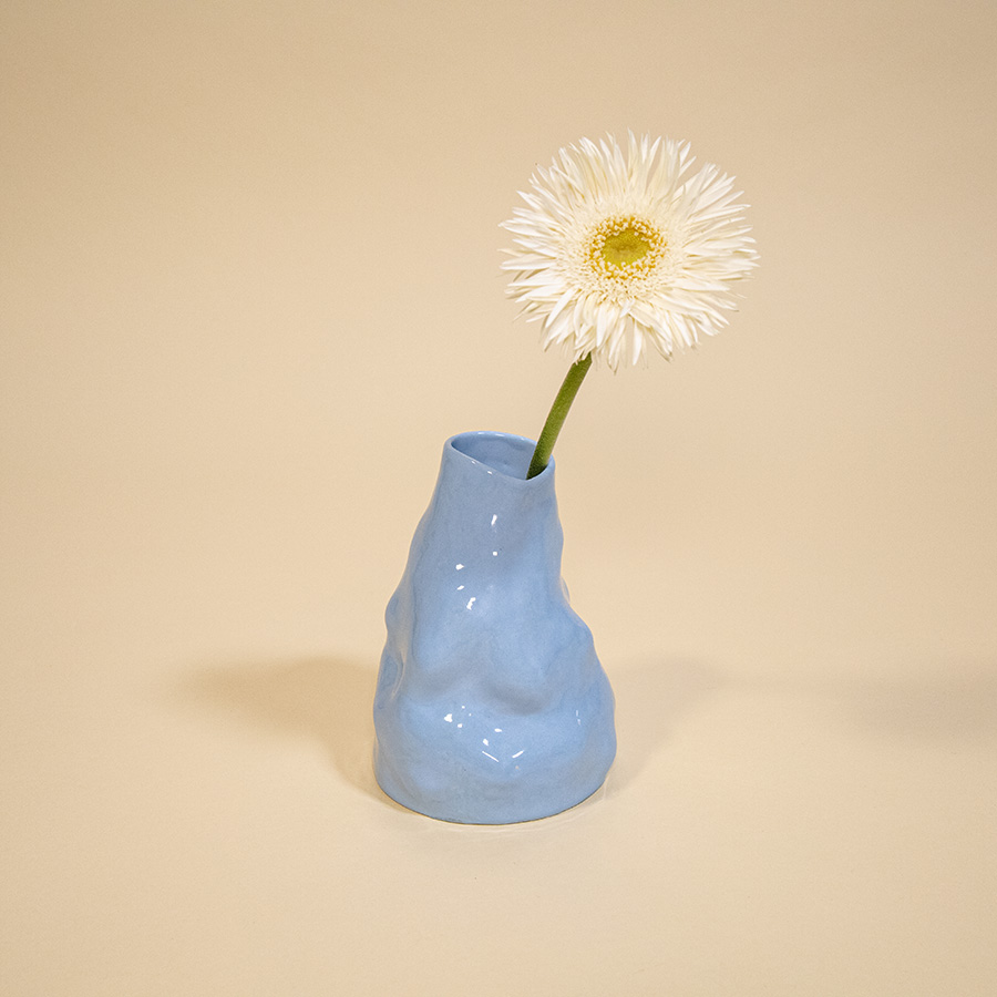 BABY BLUE VASE RAW DESIGN EXPERIMENTAL CLAY ARTISTS SIUP STUDIO COOL MACHINE ART AND DESIGN STORE CREATIVE STUDIO (1)