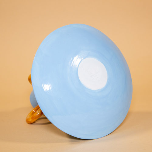 Ramina vase Ari de Luca blue brown handmade Cool Machine store (2)