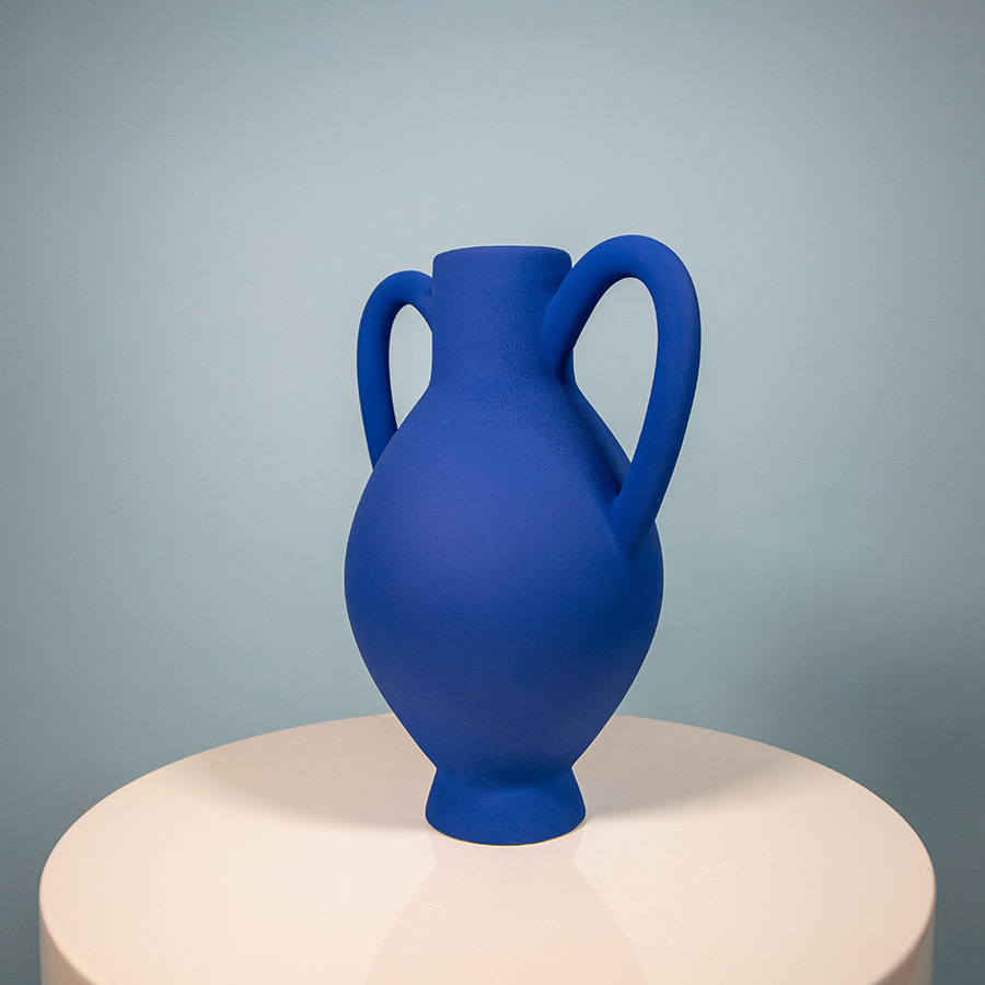 Vase louxor Julie Lansom royal blue made in France Cool Machine art and design store creative studio (1)