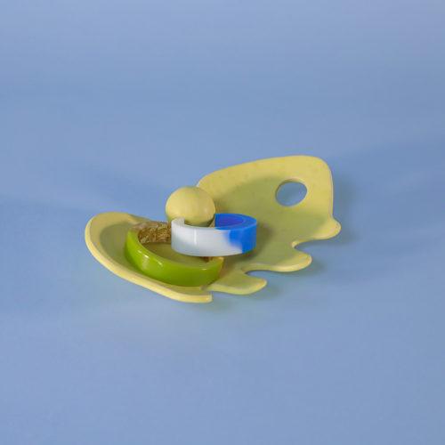 abstract platter ceramic yellow iaai handmade in berlin cool machine store (1)