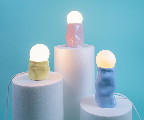 Glossy lamp 3 colors pink yellow blue handmade SIUP Studio Cool Machine (1)